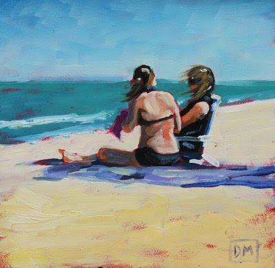 wallpaper beach scene. Artist Debbie Miller#39;s work is