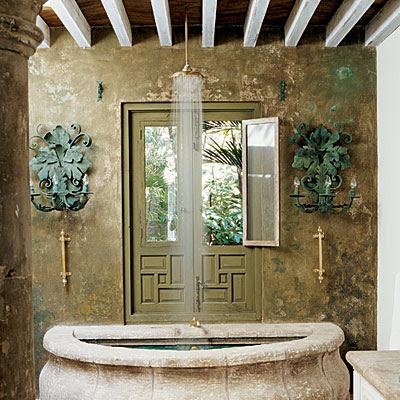 Zuniga interiors love for baths for Arredare con mobili antichi