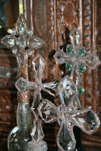 The Zuniga Interiors Collection- Vintage Cross Bottles and Embellished Bottles