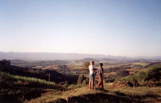 Vista do quintal de Marino
