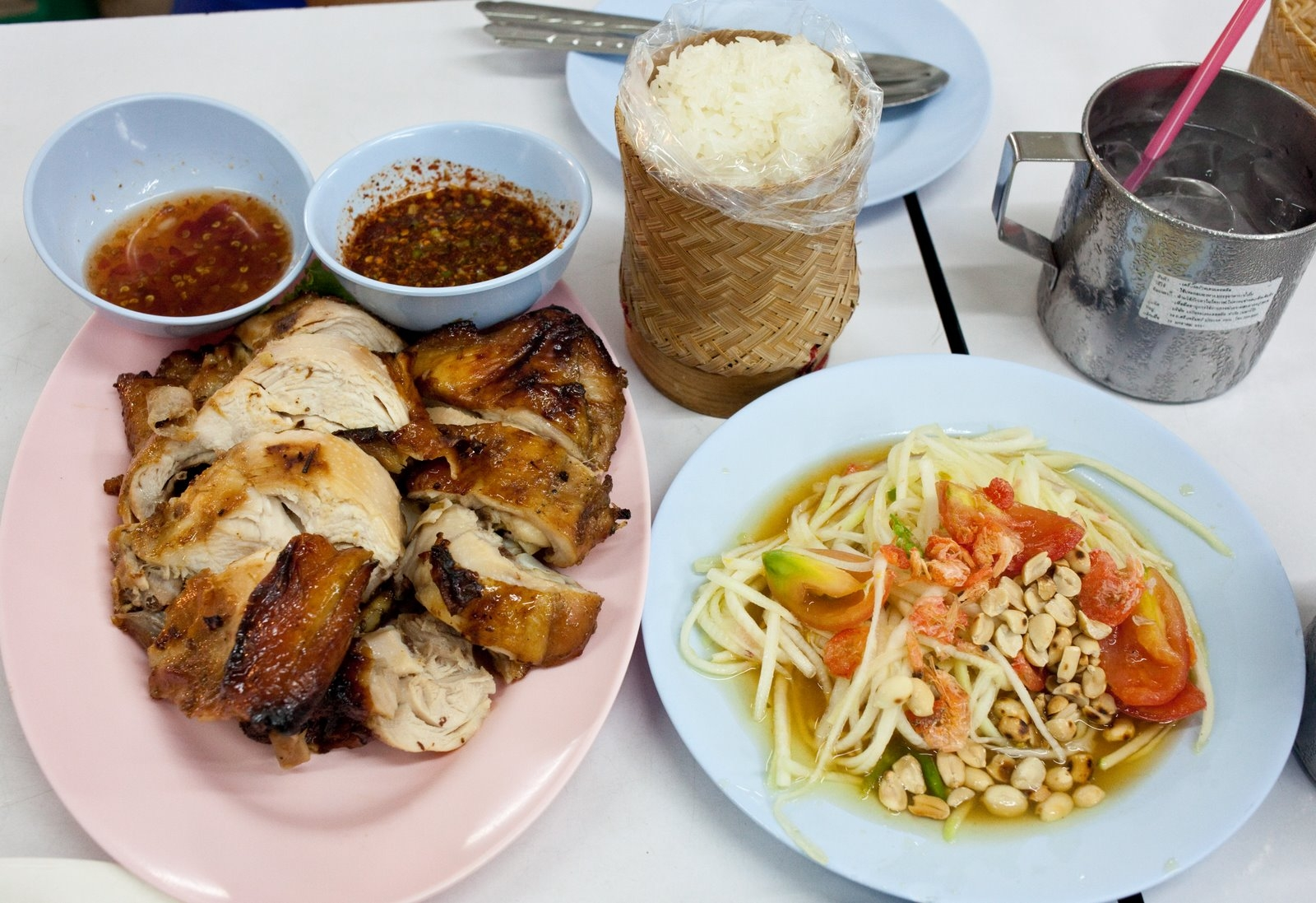 Northeastern shared dishes for Ano thai lao cuisine