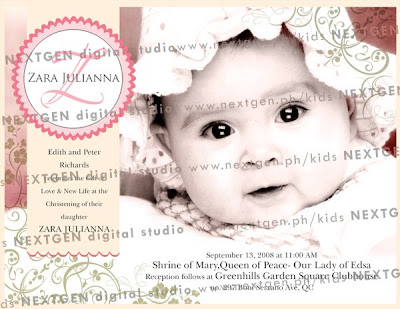 baptismal invitation design