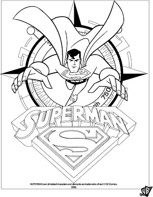 IMAGENES DE SUPERMAN PARA COLOREAR