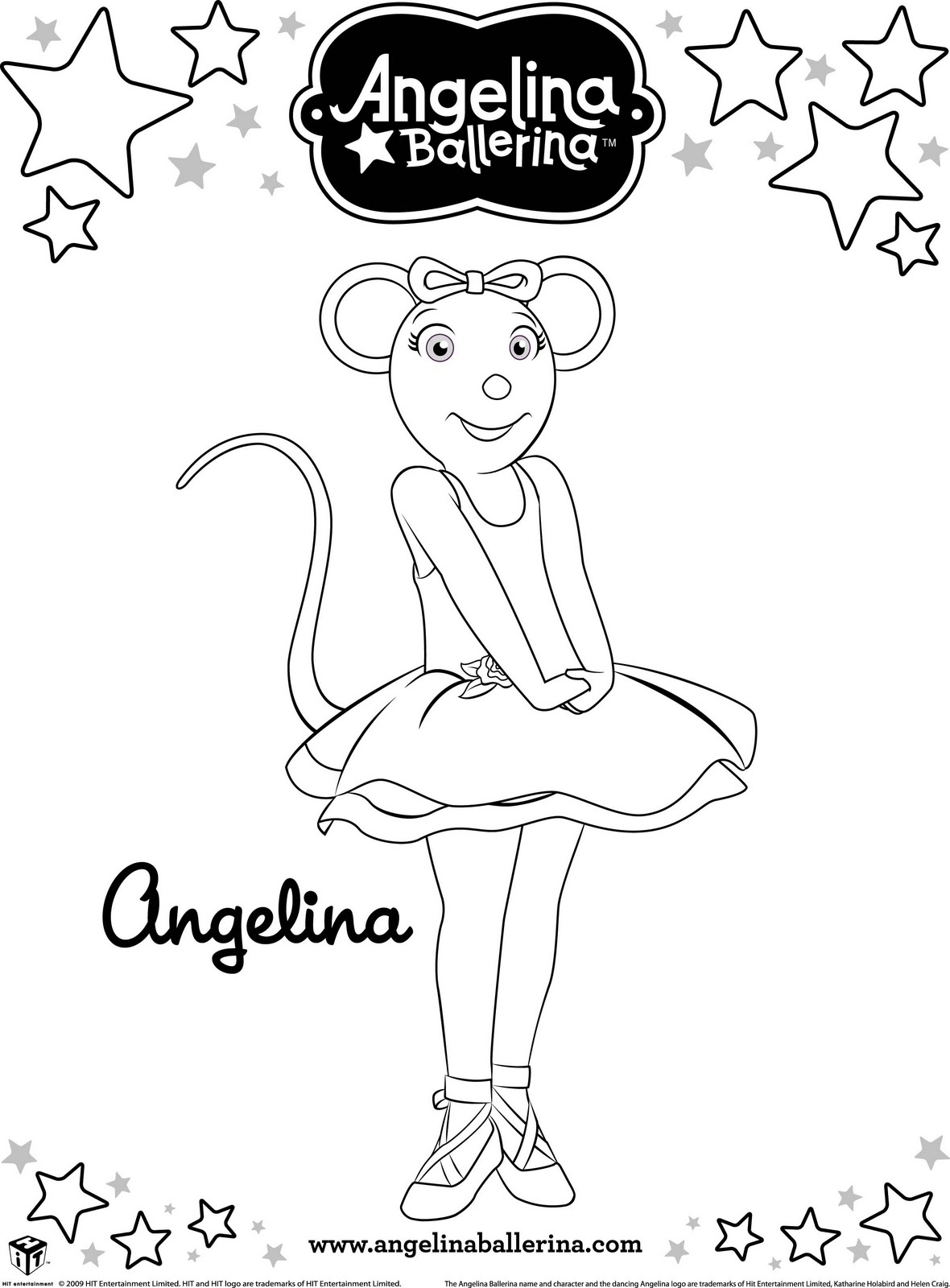 angelina ballerina alice coloring pages - photo#13