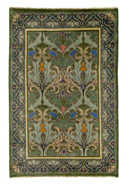 William morris fan club the beautiful rugs of c f a voysey for Arts and crafts carpet