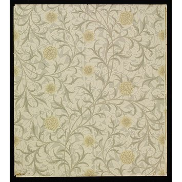 scroll wallpaper. william morris wallpaper.