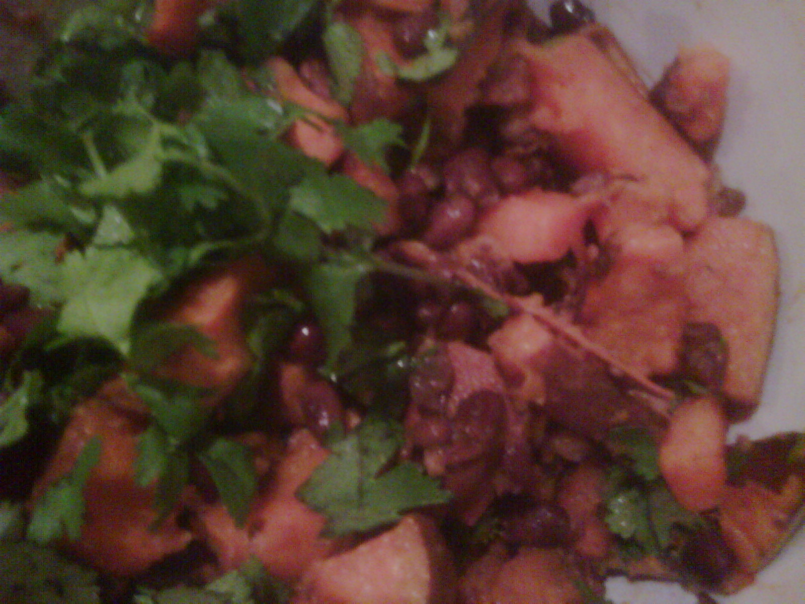 The Domestic Life: Lime Cilantro Sweet Potatoes with Black Beans