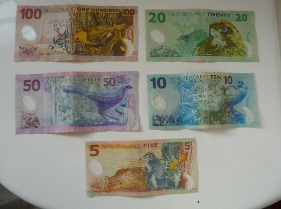 Foto de los billetes de Nueva Zelanda (dinero)