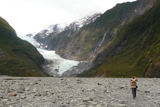 Y aquí estamos viendo todo lo del glaciar