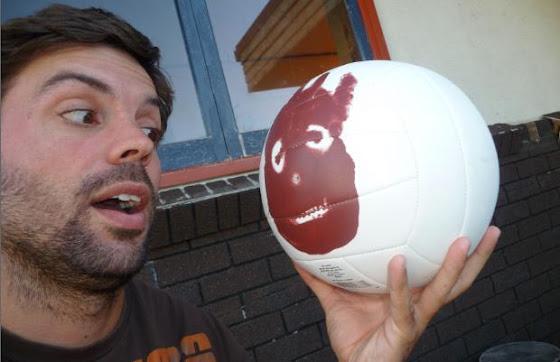Aquí estamos Wilson y yo mirandonos