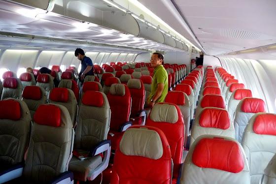 El avión de Air Asia súper cómodo y limpio