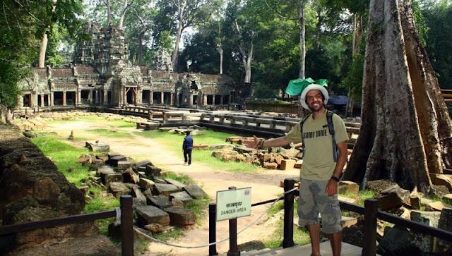 Acá estoy yo en Siem Reap