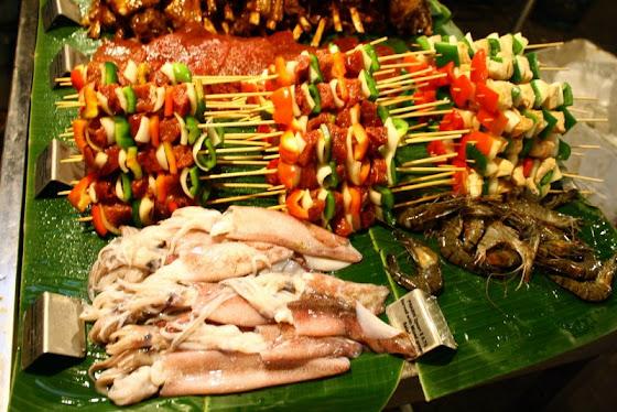 Así se veían algunas de las comidas en Siem Reap