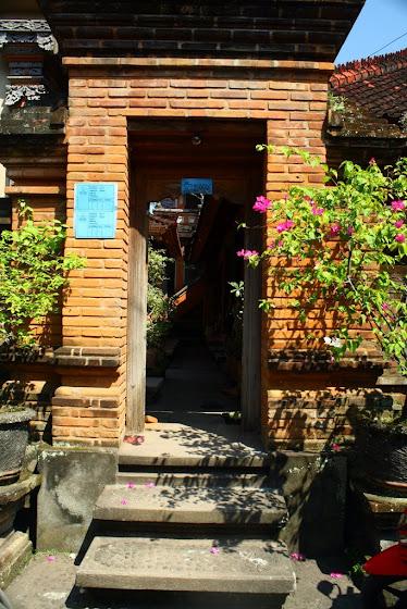 Así se miraba el templo-hostel en Ubud