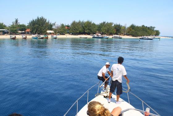Llegando a la isla Gili Trawangan