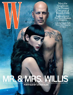 Bruce Willis W Magazine Cover Photos