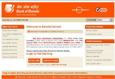 Bank of Baroda Net Banking Login - BOBibanking.com Online banking