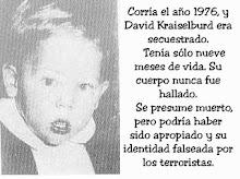 DAVID KRAISELBURD,9 MESES,1976 SECUESTRADO POR TERRORISTAS, MUERTO O APROPIADO,PIDE JUSTICIA¡¡¡