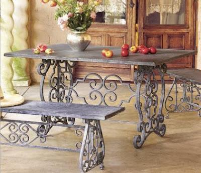 Jardiner a paisajismo mesas de jardin - Mesas de hierro para jardin ...