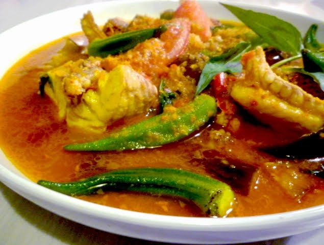 "... , Hot And Sour Fish Stew With Eggplant & Okra ""Malaysian Monday 3"
