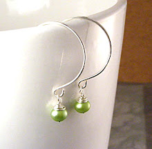 Spring Green Pearl Earrings