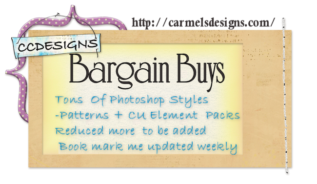 CCDesigns Bargain Buys