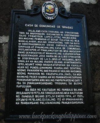 casa de comunidad de tayabas history marker