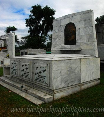 vizconde buried at manila memorial park holy cross