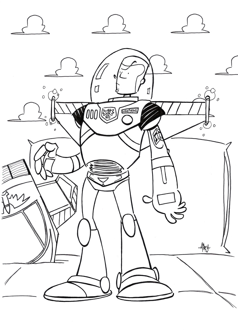 Buzz lightyear flying coloring pages for Flying buzz lightyear coloring page