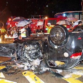 Tiga kereta Proton Satria Neo undur kereta lebih 200 meter di lebuhraya DUKE elak polis