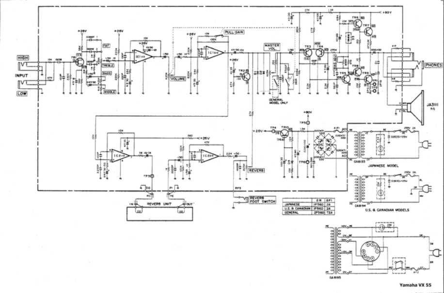 Yamaha Vx on Yamaha 300 Mixer Schematic