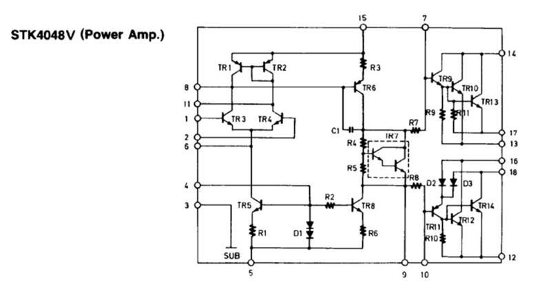 skema audio power amplifier  skema ampli stk 4048 v