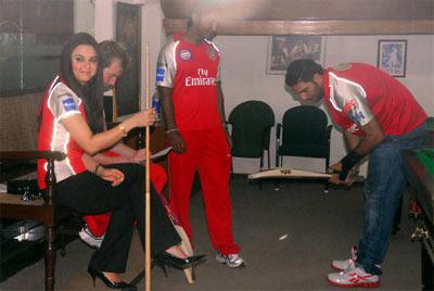 Preity Zinta at PCA Stadium Mohali