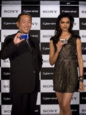 Deepika Padukone at the Launch of the New Sony Cybershot Camera