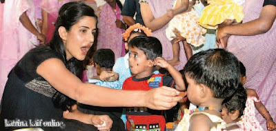 Katrina Kaif at Claretian Mercy Home