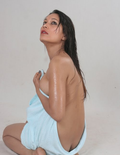 Nepali Actress Shova Karki Almost Nude Hot Spicy Erotic