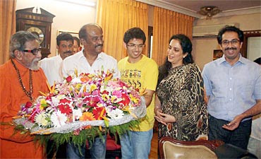 Rajinikanth with Bal Thackeray