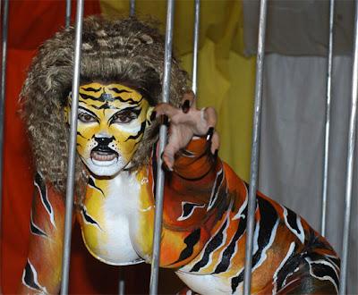 Rakhi Sawant Body Paint PETA Ad