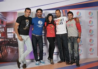 Actress Asin Unveils Big Bazaar World Cup 2011