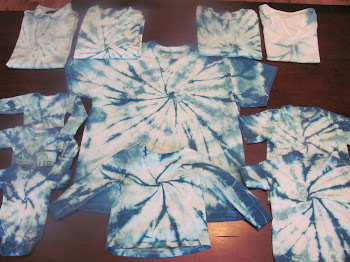 Tie-dyes for project, WITH LOVE!