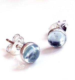 kalicat topaz ear studs earrings