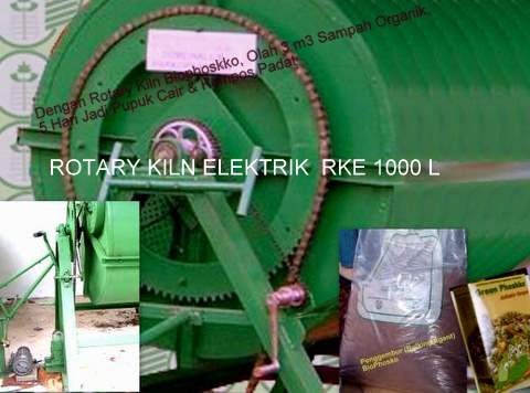 Mesin Pengolah Sampah  [Tipe Rotary Klin Elektrik] RKE 1000 L
