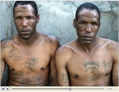 World's Most Dangerous Gang,Tattoos of an MS-13 member from the Paradiso
