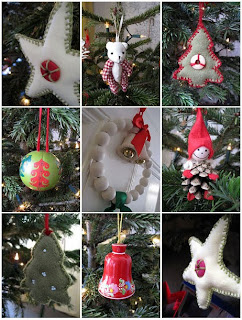 collage of Christmas decor