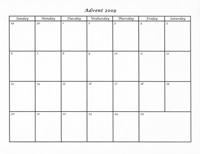 Mostly Markers 2009 Advent Calendar Template