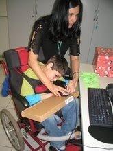 Trabalhando com paciente PC no projeto Design Inclusivo