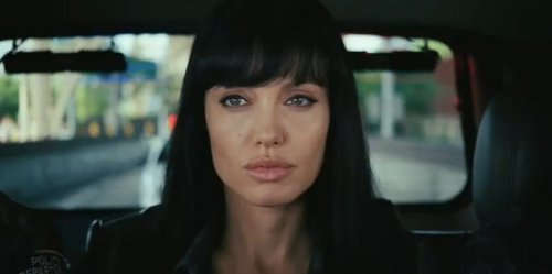 Angelina Jolie Bangs Salt. But I love Angelina Jolie.