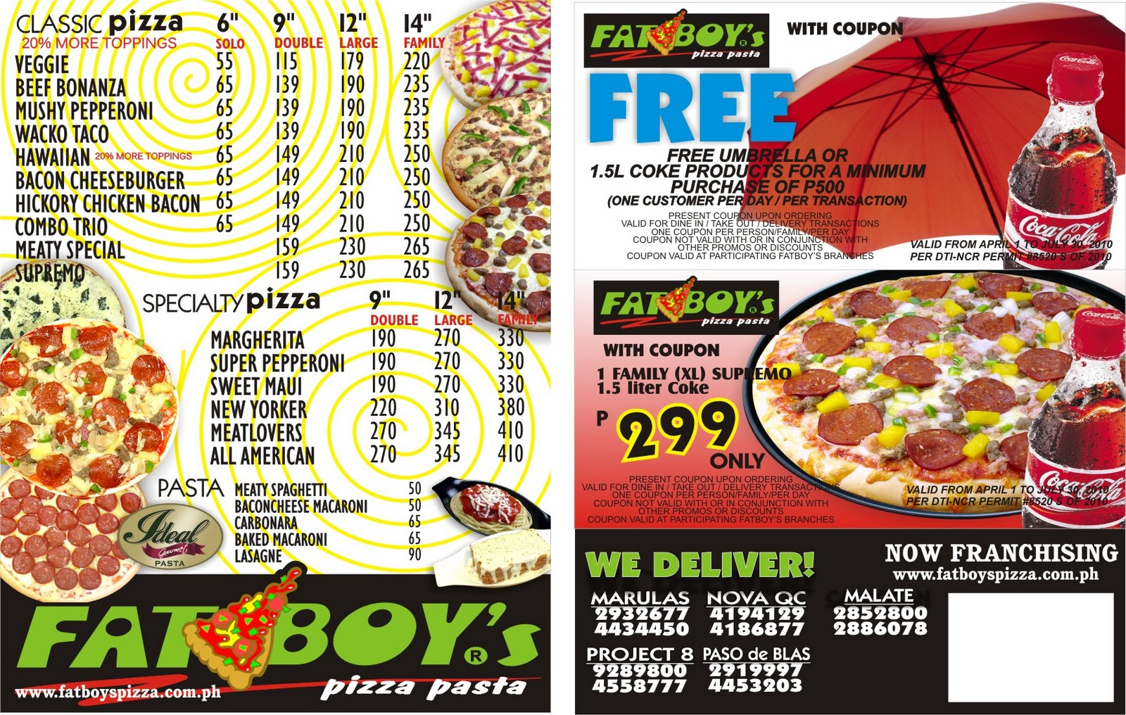 fat boyz pizza menu images
