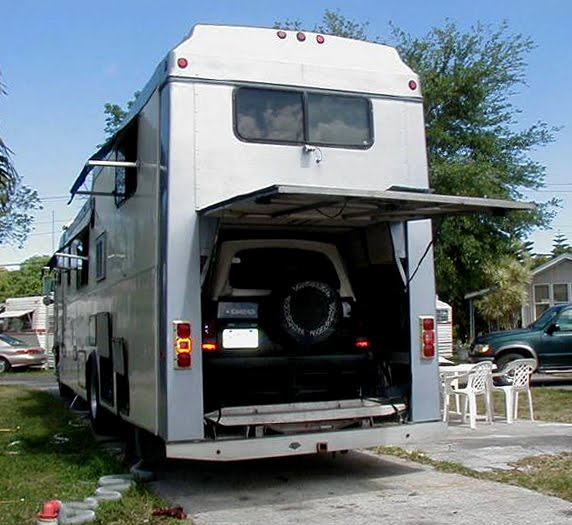 Two story rv motorhome with excellent type for Rv trailer with garage
