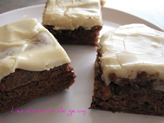 recettes dessert  BROWNIES AMANDE